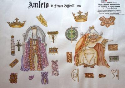 """Studio di costumi e scenografie de """"Amleto"""" di Franco Zeffirelli"""