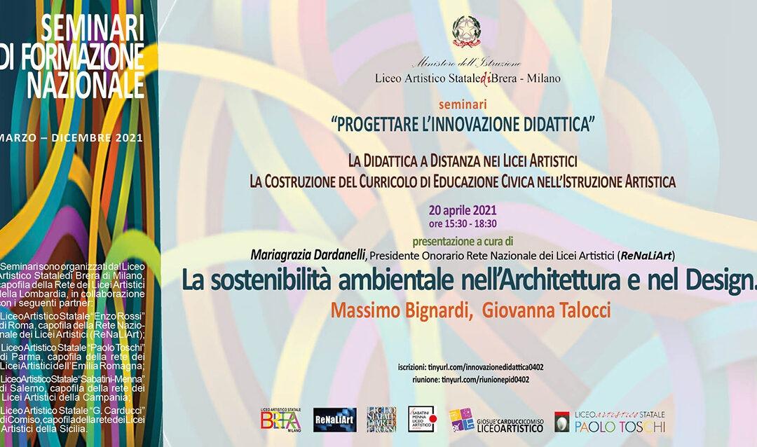 La sostenibilità ambientale nell'Architettura e nel Design – 20 aprile 2021