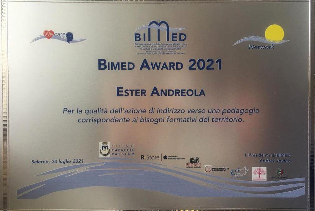 Assegnato alla nostra dirigente il Bimed Award 2021